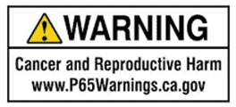 Warning - Cancer & Reproductive Harm - P65Warnings.ca.gov